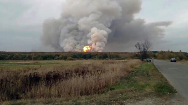 Взрывы на артиллерийском складе под Рязанью
