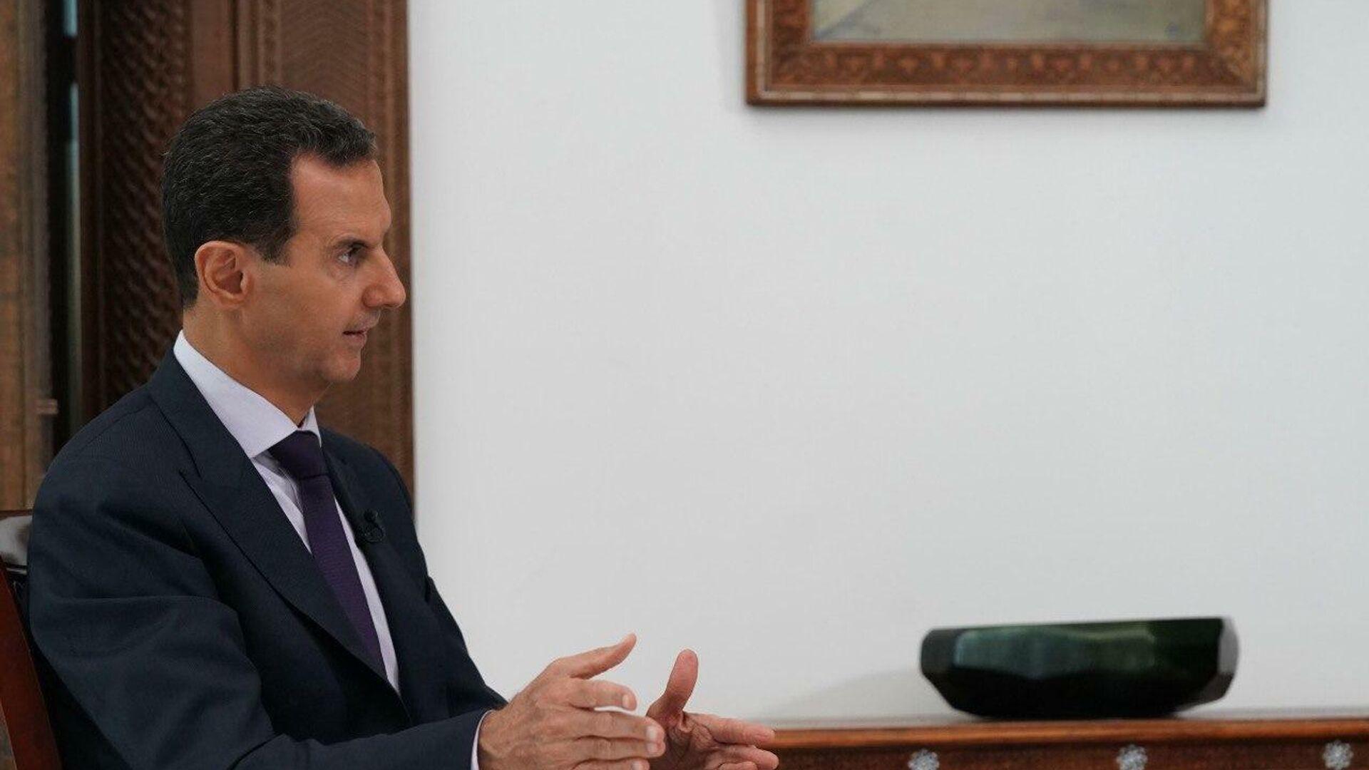 Президент Сирийской Арабской Республики Башар Асад во время интервью информационному агентству РИА Новости - РИА Новости, 1920, 08.10.2020