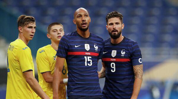Игровой момент матча сборных Франции и Украины