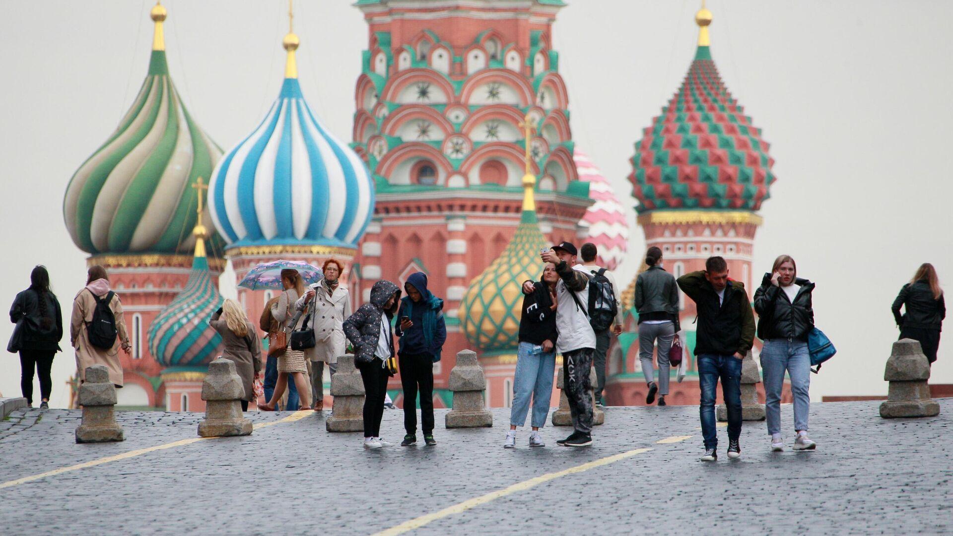 Люди на Красной площади в Москве - РИА Новости, 1920, 16.10.2020