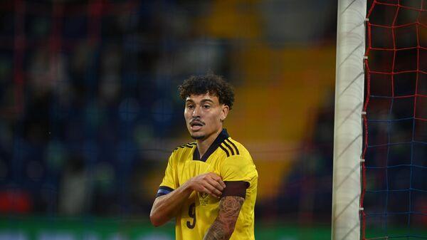 Нападающий сборной Швеции Джордан Ларссон
