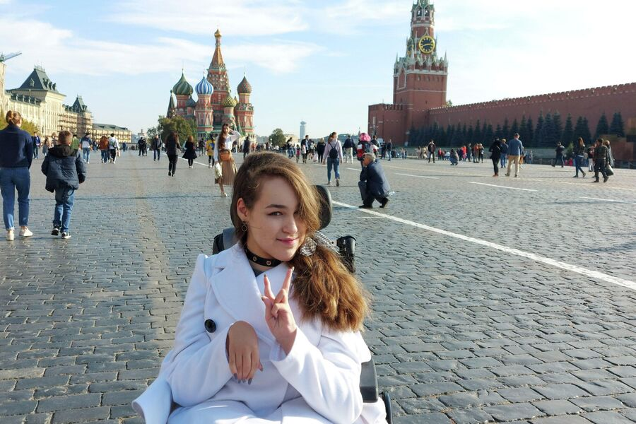Маша на Красной площади в Москве