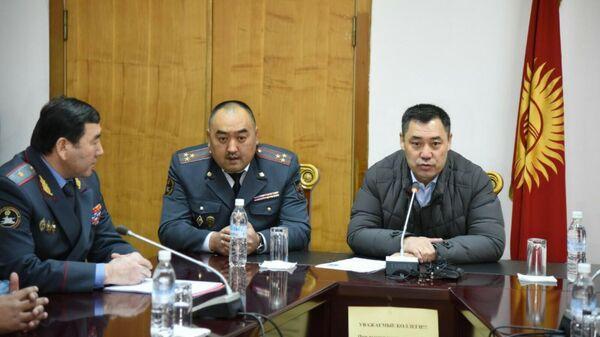 Премьер-министр Киргизии Садыр Жапаров представил нового главу МВД Улана Ниязбекова