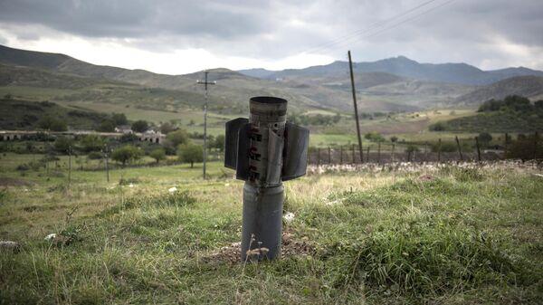 Неразорвавшийся снаряд в Карабахе