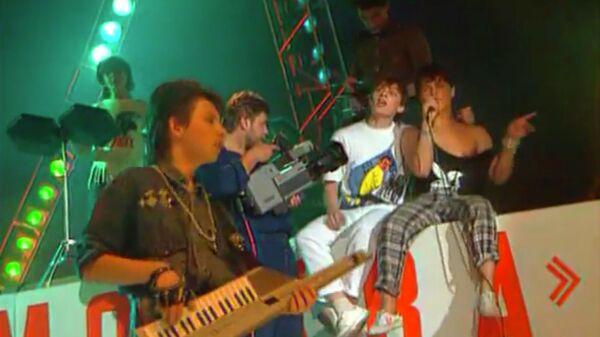 Кадр из видео Розовый вечер группы Ласковый май