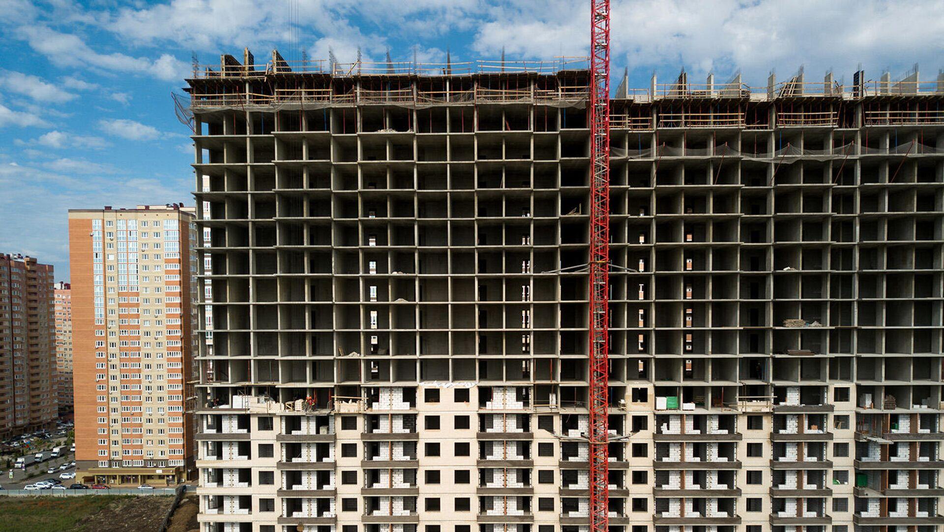 Строительство жилых домов - РИА Новости, 1920, 21.06.2021