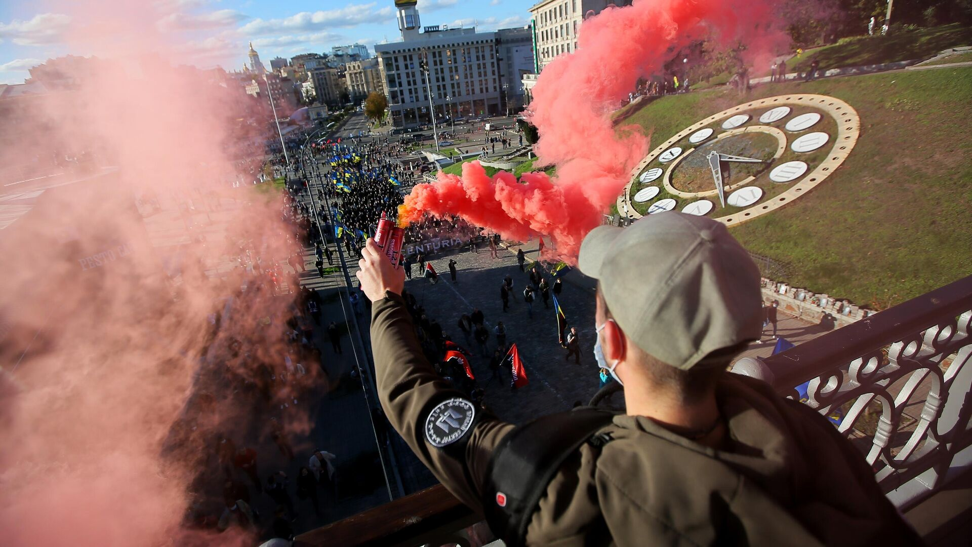 Марш националистов в Киеве в честь создания Украинской повстанческой армии - РИА Новости, 1920, 09.05.2021
