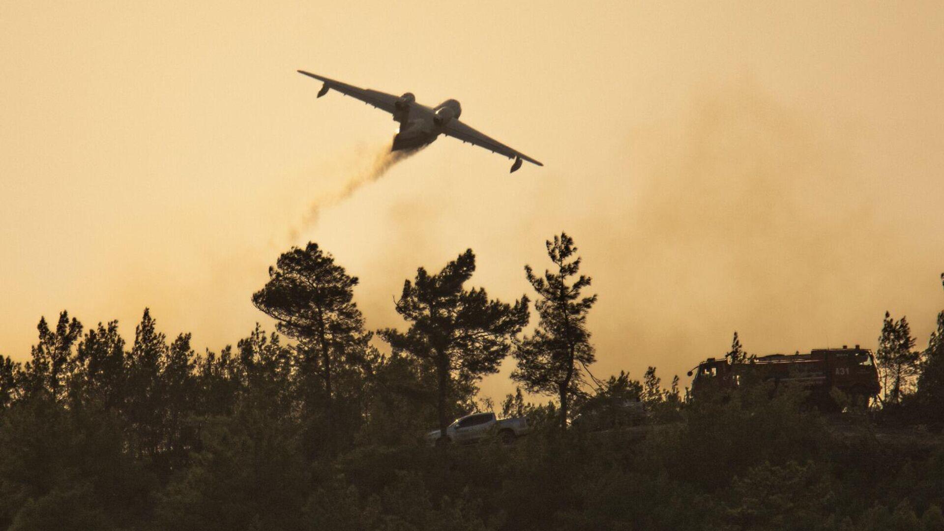 Российские самолеты-амфибии, тушившие пожары в Турции - РИА Новости, 1920, 01.08.2021