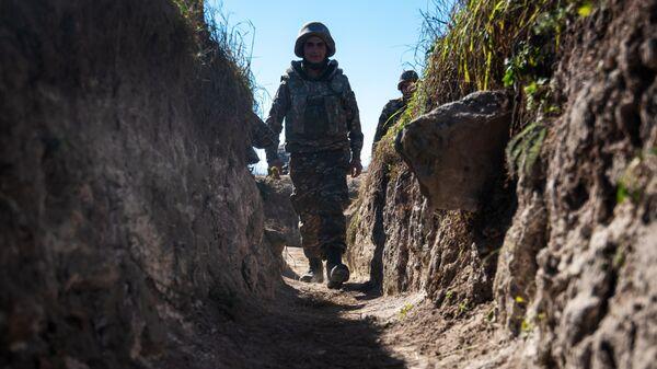 Военнослужащий армии обороны Нагорно-Карабахской республики