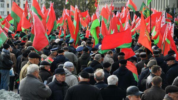 Митинг сторонников президента Белоруссии Александра Лукашенко в Минске