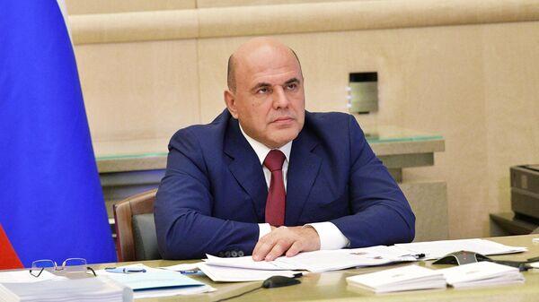 Председатель правительства РФ Михаил Мишустин проводит в режиме видеоконференции заседание консультативного совета по иностранным инвестициям в России