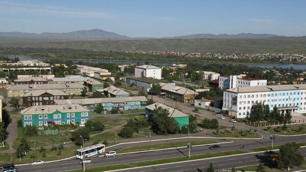 Вид на один из районов Кызыла. Республика Тыва