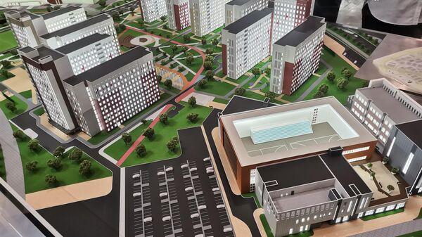Макет объектов Универсиады-2023 в Екатеринбурге