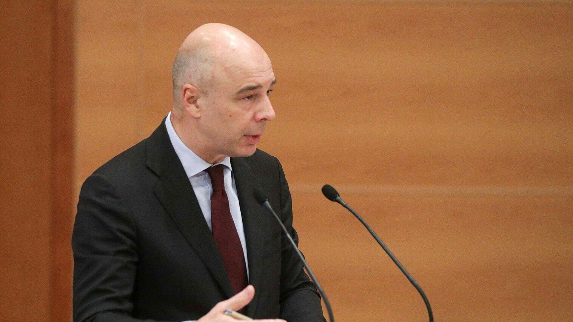 Министр финансов РФ Антон Силуанов выступает на заседании по обсуждению проекта федерального бюджета на 2021 год в Госдуме - РИА Новости, 1920, 14.10.2021