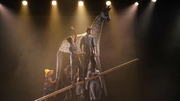 Сцена из спектакля Сны Пиросмани Упсала-цирка