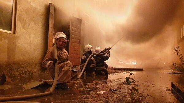 Пожар в Аргуне