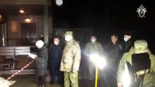 Кадры с места убийства депутата Александра Петрова в Ленинградской области
