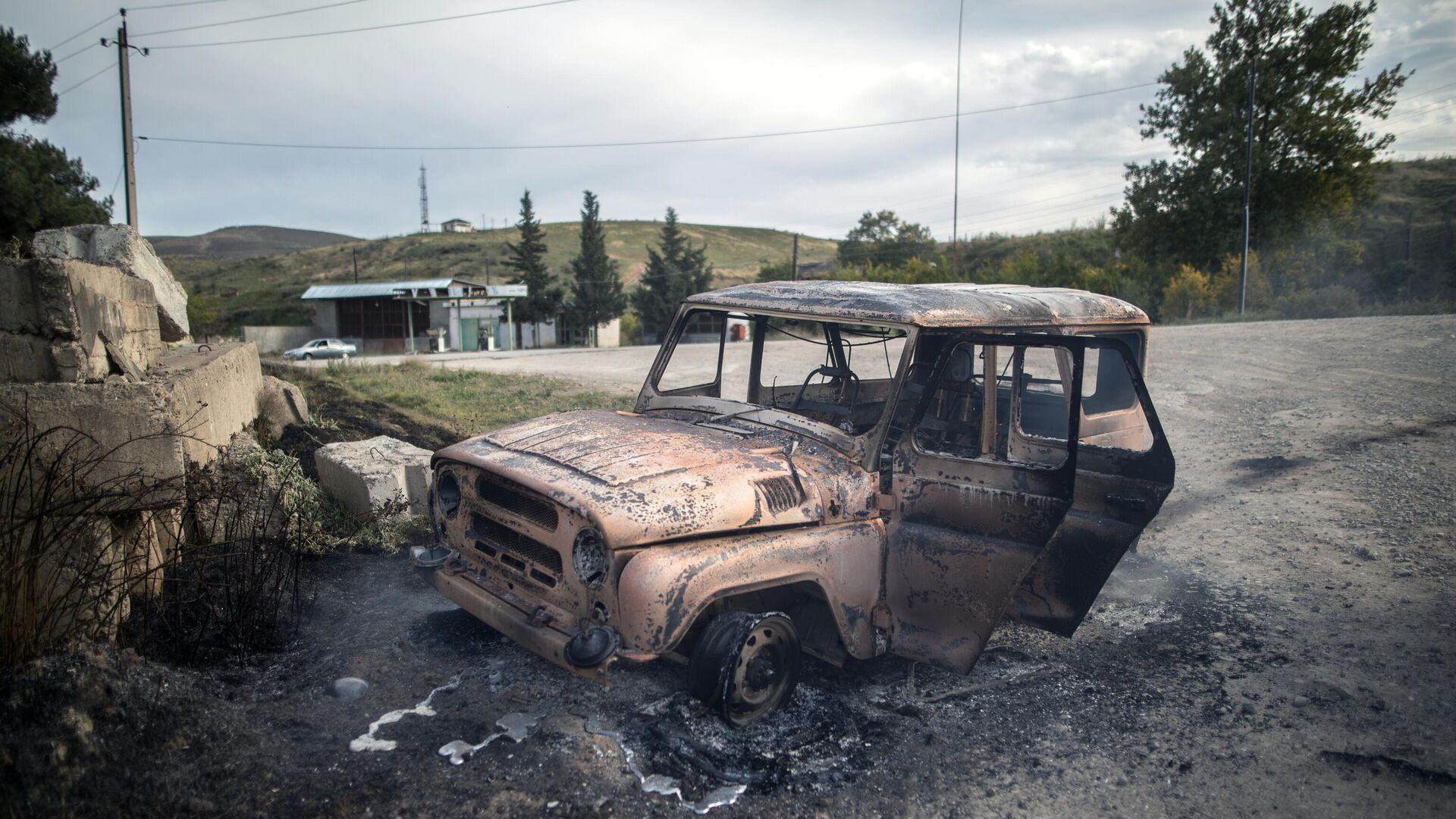 Последствия обстрела города Мартуни в Нагорном Карабахе - РИА Новости, 1920, 27.10.2020