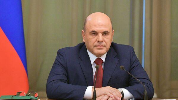 Председатель правительства РФ Михаил Мишустин во время встречи  с главами фракций и руководством Госдумы РФ