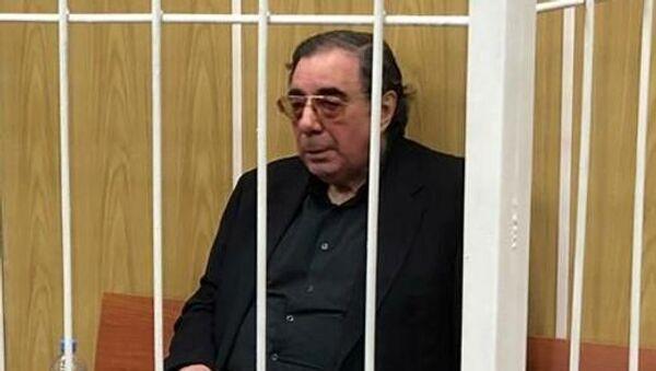 Юрист, меценат Михаил Цивин во время избрания меры пресечения в Хамовническом суде города Москвы