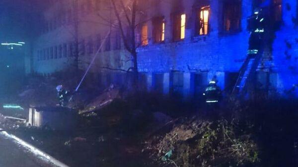 Возгорание произошло в трехэтажном здании на бывшей территории завода Серп и молот в Москве 24 октября 2020 года