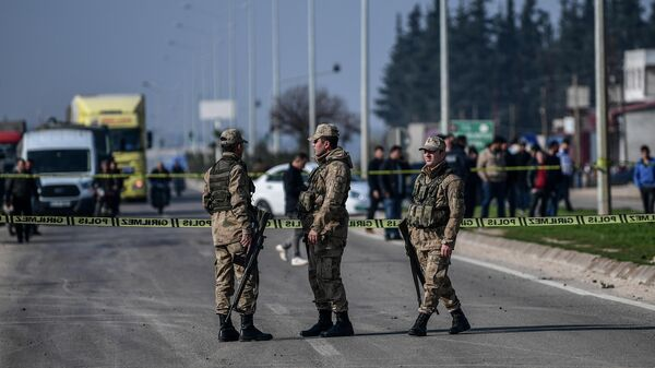 Турецкие военные в провинции Хатай на юго-востоке страны