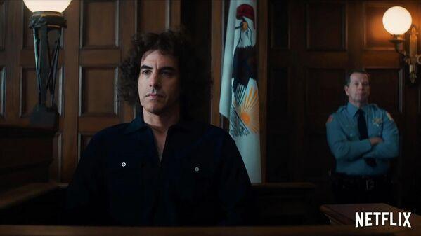 Кадр из трейлера фильма Суд над чикагской семеркой