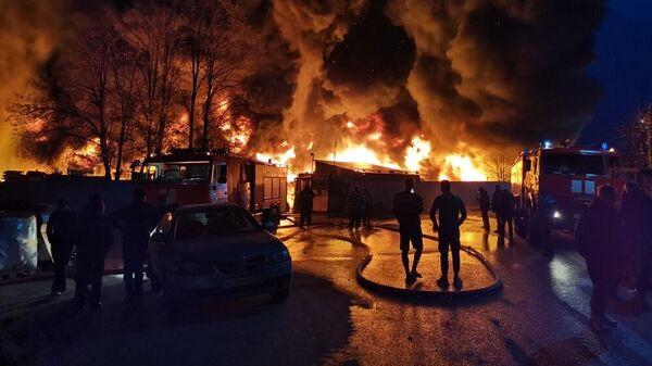 Пожар в Рузе