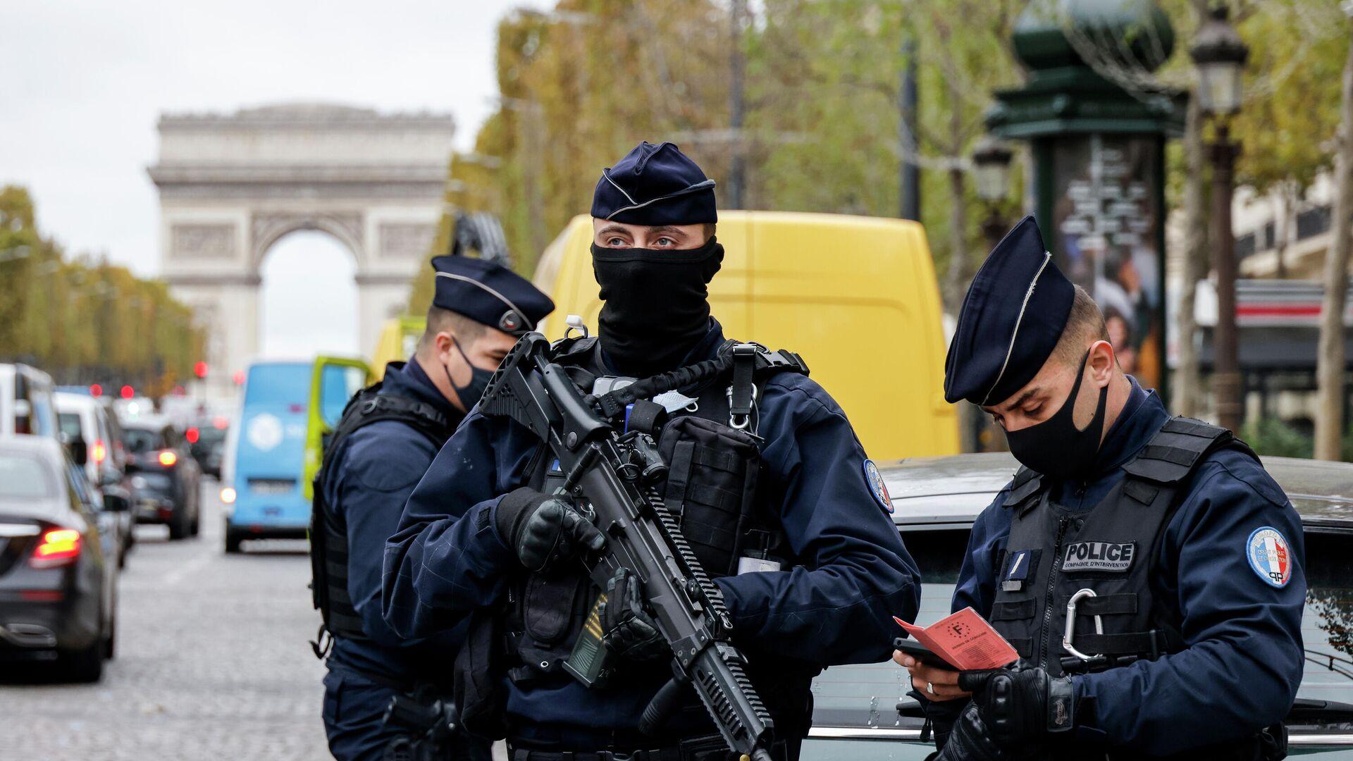 Французские полицейские в Париже - РИА Новости, 1920, 06.11.2020
