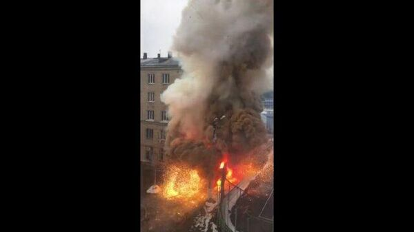 Кадры взрыва кислородных баллонов в больнице Челябинска