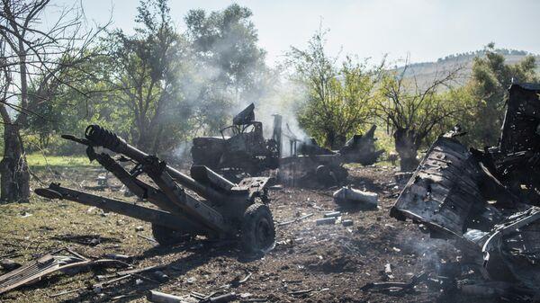 Разбитая военная техника армии обороны Нагорного Карабаха в районе Гадрута