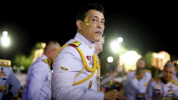 Король Таиланда Маха Ватчиралонгкон (Рама Х) в Бангкоке, Таиланд. 1 ноября 2020