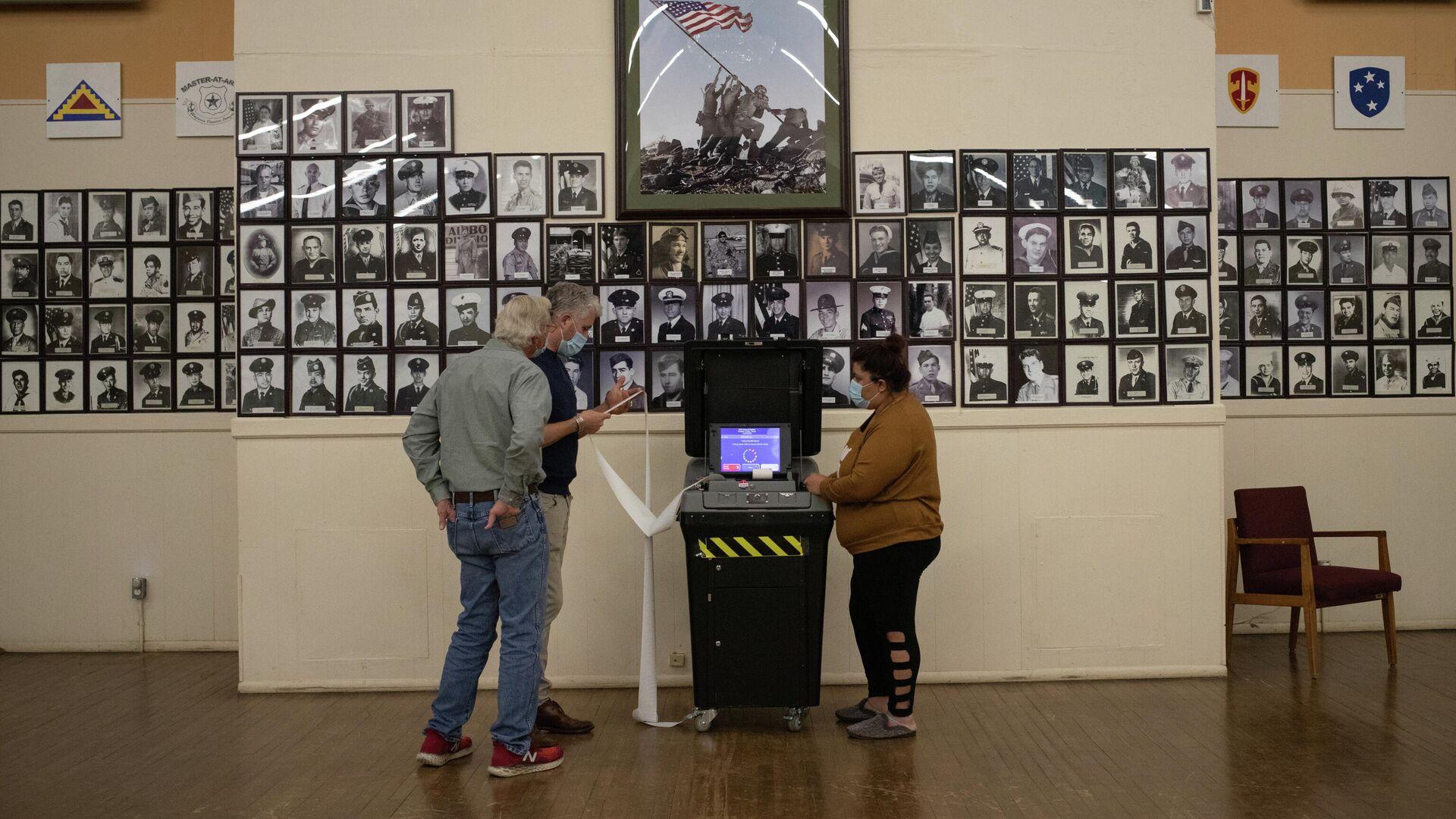 Подсчет голосов на президентских выборах в США  - РИА Новости, 1920, 17.11.2020
