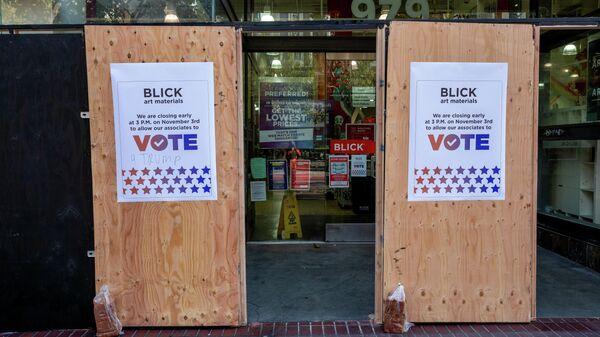 Один из избирательных участков в Сан-Франциско в день выборов президента США