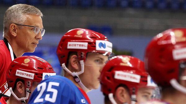 Игорь Ларионов в молодежной сборной России