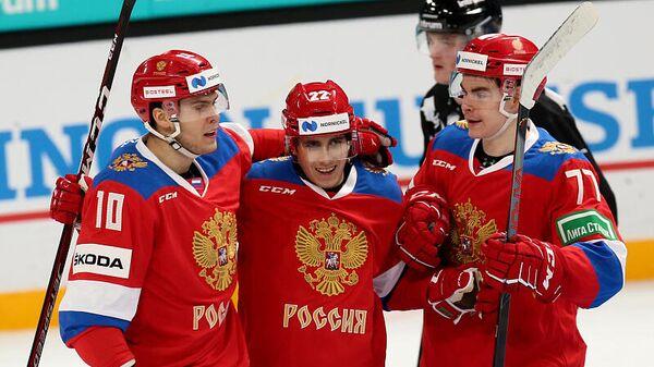 Матч Кубка Карьяла между сборными России и Финляндии