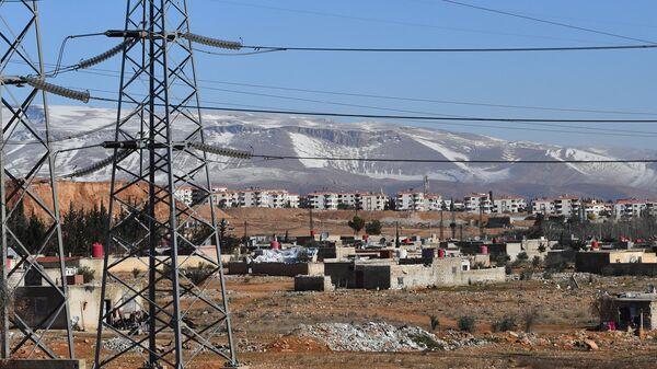 Линии электропередач подстанции в пригороде Дамаска