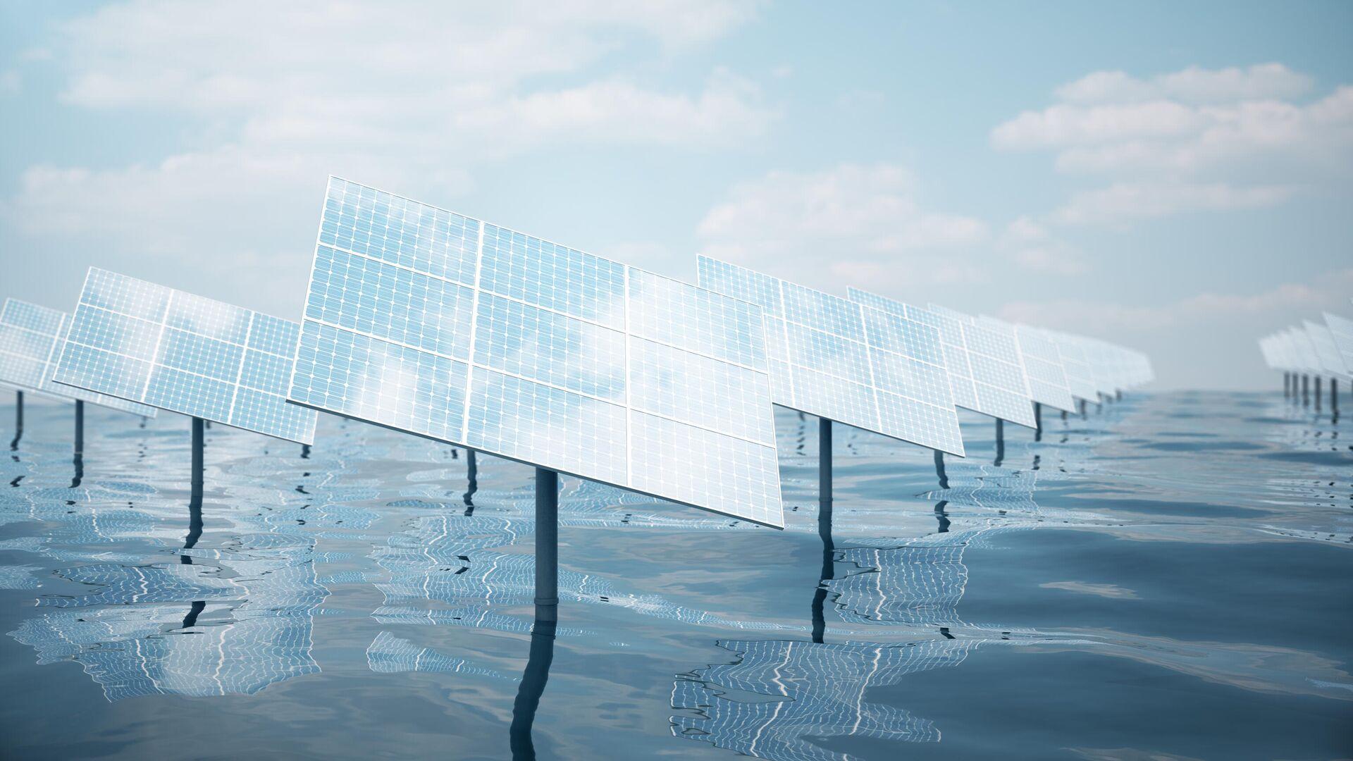 Солнечные батареи у моря  - РИА Новости, 1920, 03.06.2021