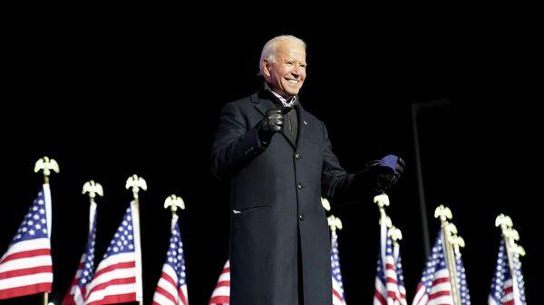 Кандидат в президенты США Джо Байден во время выступления в Питтсбурге, Пенсильвания
