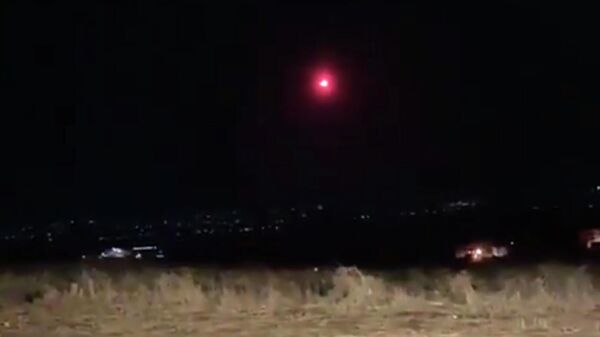 Падение горящего метеорита на севере Ливана в провинции Аккар