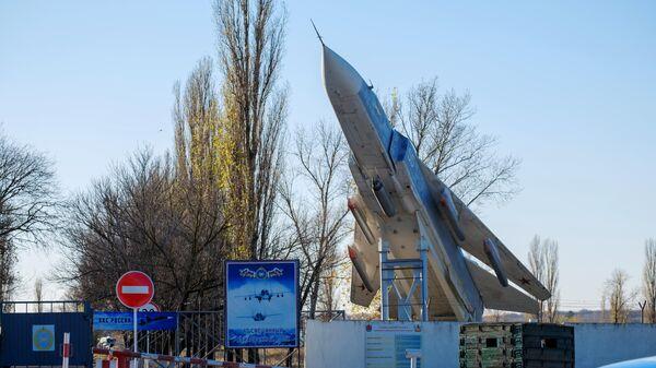 Контрольно-пропускной пункт военного аэродрома Балтимор под Воронежем