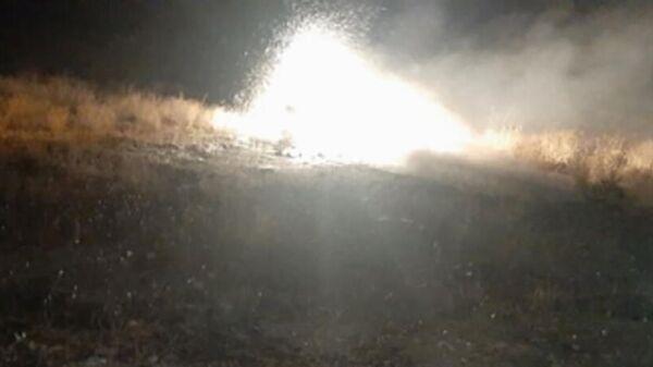 На месте падения вертолета Ми-24 у населенного пункта Ерасх в Армении