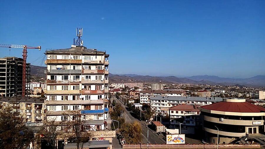 Город Степанакерт утром 10 ноября 2020 года