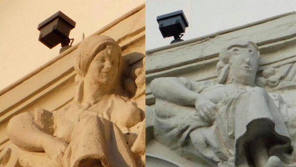 Пример неудачной реставрации на одно из здании  Паленсии