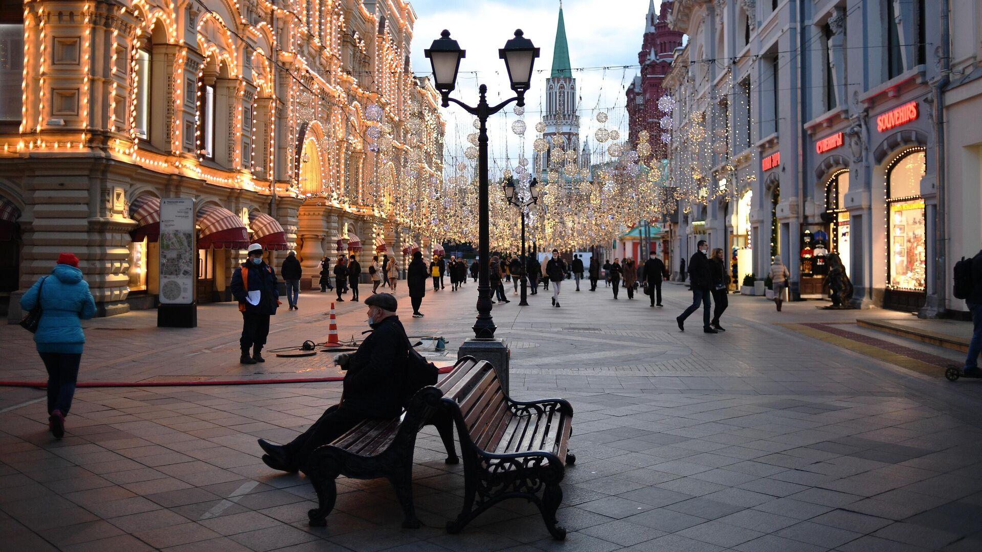 Никольская улица в Москве - РИА Новости, 1920, 22.09.2021