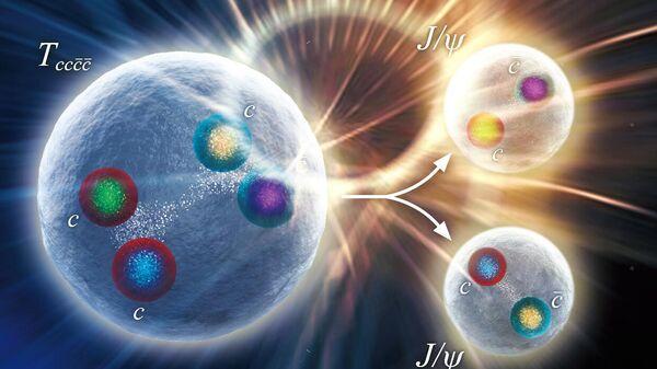 Обнаружение структуры из четырех очарованных кварков