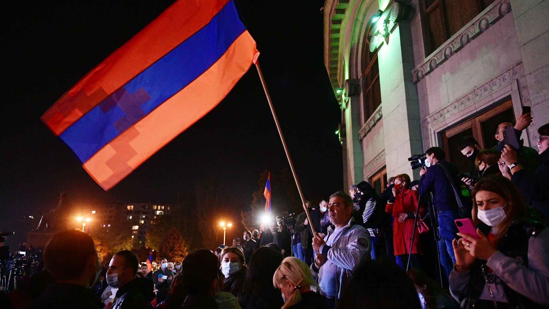 Участники митинга оппозиции в Ереване - РИА Новости, 1920, 12.11.2020