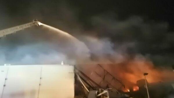 Пожар в ТЦ М5Молл в Рязани