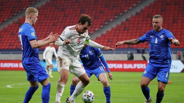 Игровой момент матча Венгрия - Исландия