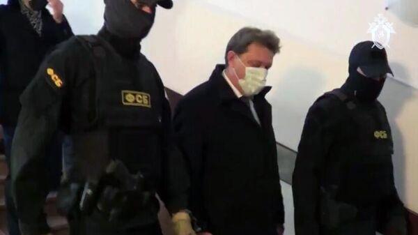 Задержание мэра Томска Иван Кляйна. Кадр видео